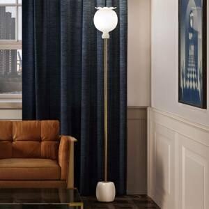Kundalini Kundalini Opyo stojaca lampa, vyfúknutá, biela