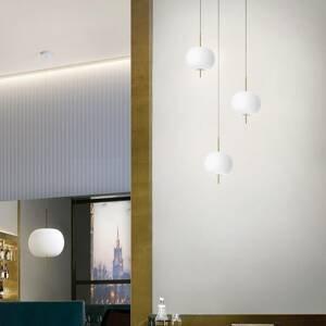 Kundalini Kundalini Kushi závesná lampa Ø 33 cm mosadz/biela