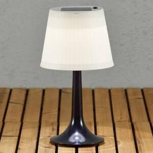 Konstmide Čierna solárna stolná LED lampa Assisi Sitra