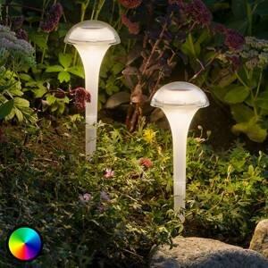 Konstmide Solárna LED lampa Assisi balenie 2 ks zakrivená