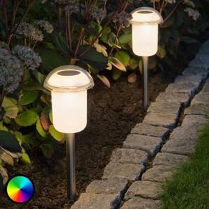 Konstmide Solárna LED lampa Assisi 2 ks odnímateľný hrot