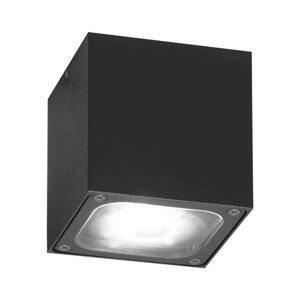 Konstmide Stropné LED svietidlo Cesena tvar kocky antracit