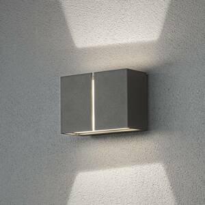 Konstmide Vonkajšie nástenné LED svietidlo Pavia tmavosivé