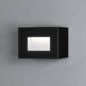 Konstmide Vonkajšie nástenné LED Chieri, 12 x 8cm, čierne
