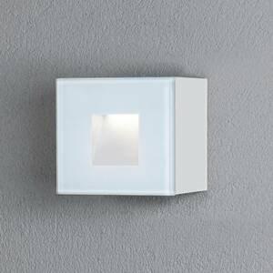 Konstmide Vonkajšie nástenné LED Chieri, 8 x 8cm, biele