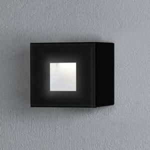 Konstmide Vonkajšie nástenné LED Chieri, 8 x 8cm, čierne