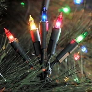 Konstmide CHRISTMAS Farebná svetelná LED reťaz 100-plameňová 16,35m