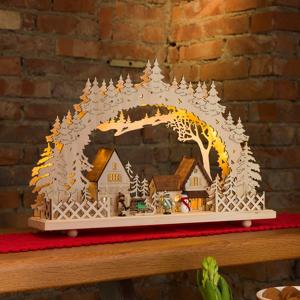 Konstmide CHRISTMAS 10-plameňová LED svetelný oblúk Dedinka