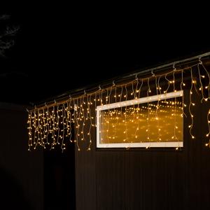 Konstmide CHRISTMAS LED záves mrznúci dážď, teplá biela, priehľ. 10m