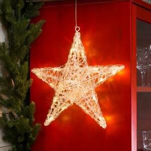 Konstmide CHRISTMAS Päťcípa akrylová hviezda Ingar s LED