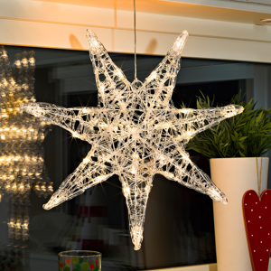 Konstmide CHRISTMAS Akrylová sedemcípa hviezda Iselin s LED