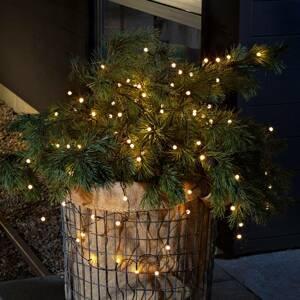 Konstmide CHRISTMAS Vonkajšia LED reťaz 40-pl. teplá biela, batérie