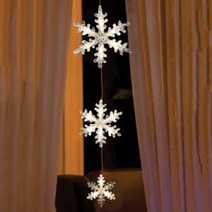 Konstmide CHRISTMAS Svetelná LED reťaz Snehové vločky