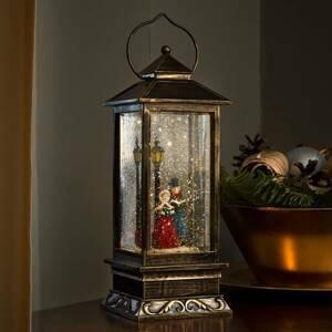 Konstmide CHRISTMAS Vysoká dekoračná lucerna Zimná scénka