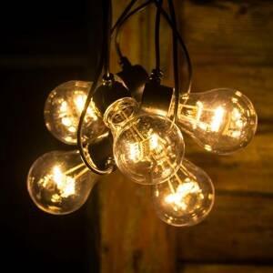 Konstmide CHRISTMAS LED reťaz vzhľad žiarovkového vlákna jantár 5-pl.