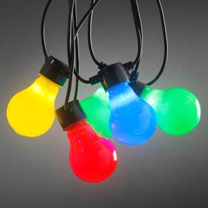 Konstmide CHRISTMAS Svetelná reťaz Pivná záhrada 20 farebných LED opál