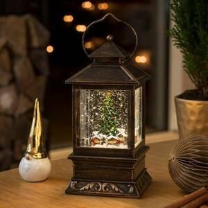 Konstmide CHRISTMAS Snehová lucerna Vianočný LED trh s vodou