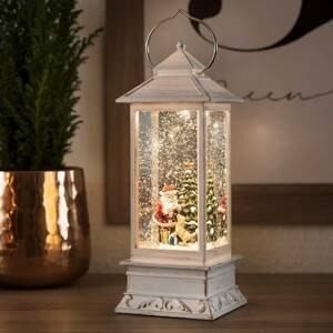Konstmide CHRISTMAS Vodná LED lucerna Mikuláš so psom