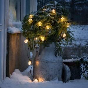 Konstmide CHRISTMAS Svetelná reťaz Pivná záhrada 20 kvapky číra jantár
