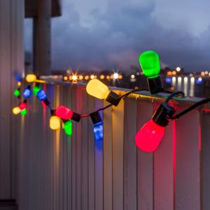 Konstmide CHRISTMAS Svetelná reťaz Pivná záhrada 40 LED farebná opál
