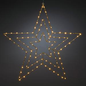 Konstmide CHRISTMAS LED dekoratívne svetlo Goldstern 66 x 64 cm