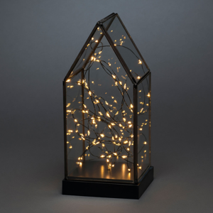 Konstmide CHRISTMAS LED dekoratívny lampáš, 80, ba–pl., batéria