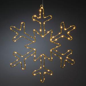 Konstmide CHRISTMAS LED dekoratívne svetlo Zlatá snehová vločka