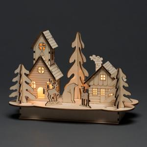 Konstmide CHRISTMAS LED Dom a zvieratá