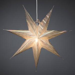 Konstmide CHRISTMAS Dekoratívna hviezda z papiera, strieborná, 7–cípa
