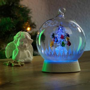 Konstmide CHRISTMAS LED ozdobné svetlo sklenená guľa so stromčekom