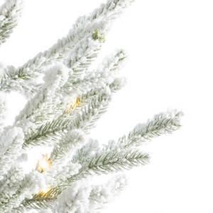 Kaemingk LED strom Norway v kvetináči batéria biely 90cm