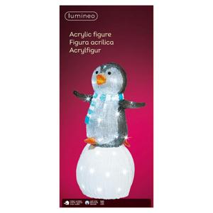 Kaemingk LED figúrka Tučniak na snehovej guli do exteriéru