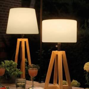 Kaemingk Solárna stojaca LED lampa 895191 rám píniové drevo