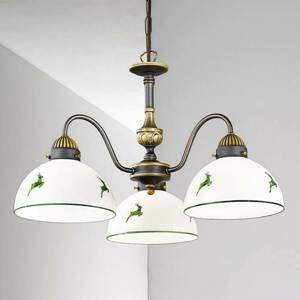 AUSTROLUX BY KOLARZ KOLARZ Nonna – závesná lampa, 3-pl., bielo-zelená