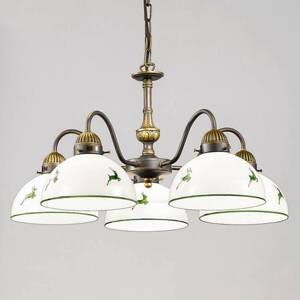 AUSTROLUX BY KOLARZ KOLARZ Nonna závesná lampa vidiecky bielo-zelená