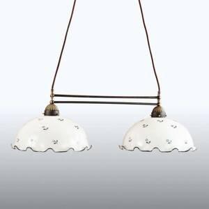 AUSTROLUX BY KOLARZ KOLARZ Nonna trámová závesná lampa bielo-modrá