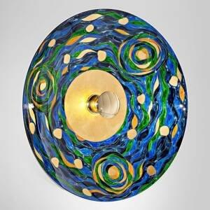 KOLARZ KOLARZ Aqua – modro-zelené nástenné svietidlo