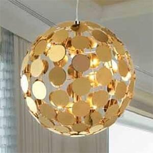 PATRIZIA VOLPATO Závesná lampa Sfera, D 50cm v zlatom vzhľade