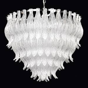 PATRIZIA VOLPATO Závesná lampa Petali muránske sklo 56cm chróm