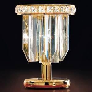 PATRIZIA VOLPATO Stolná lampa Cristalli 24-karátov v zlate