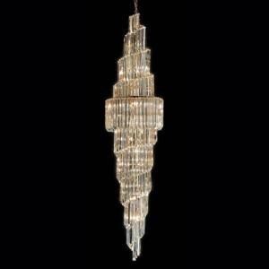PATRIZIA VOLPATO Závesná lampa Cristalli číra 245cm vysoká