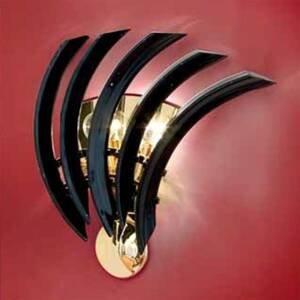 PATRIZIA VOLPATO Čierne nástenné svietidlo RONDO z muránskeho skla