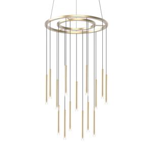 GROK Grok Candle závesné LED 18-pl. zlatá satinovaná