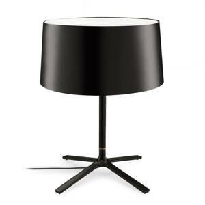 GROK Grok Hall stolná lampa, látkové tienidlo čierna