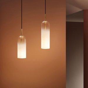LEDS-C4 LEDS-C4 Glam závesná lampa sklo biele výška 38,5cm