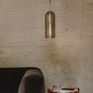 LEDS-C4 LEDS-C4 Glam závesná lampa dymové sklo výška 31cm