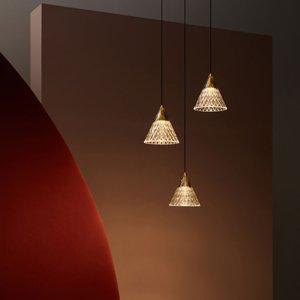 LEDS-C4 LEDS-C4 Veneto závesné LED 1-pl., zlaté/čierne