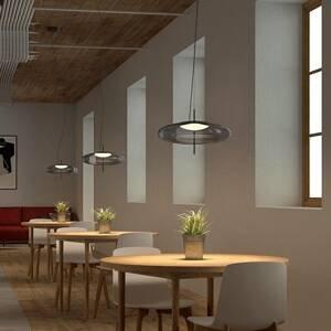 LEDS-C4 LEDS-C4 Plat závesné LED svetlo decentrálne dymová