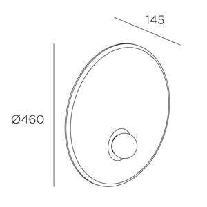 LEDS-C4 LEDS-C4 Trip nástenné svietidlo Ø 46cm čierna