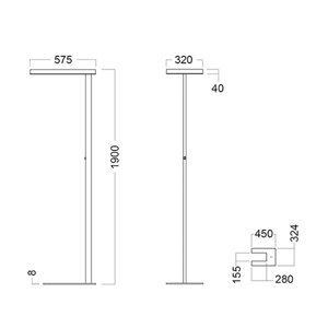 GLamOX Stojaca LED Free-F 4000K stmievateľná snímač sivá